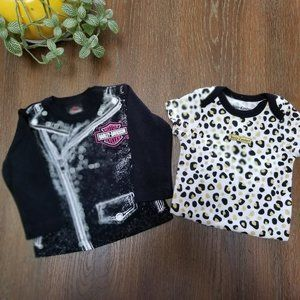 CJuicy Couture Onesie and Harley Davidson Tee